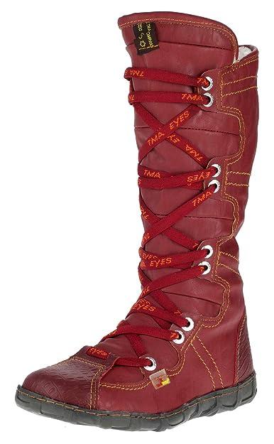 56cba29782f9 TMA Dvina Damen Winter Stiefel Boots Gefüttert Winterstiefel 2018 (36, Rot)