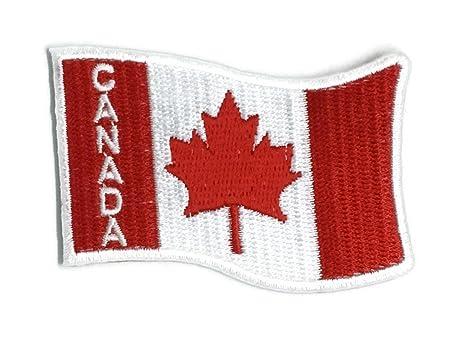 Símbolo de bandera de Canadá bordado para coser