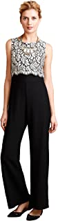 product image for Eva Franco Filigree Flora Petite Jumpsuit, Black, 2P
