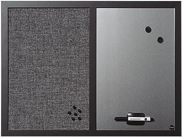 Hellgrau Textilob... Bi-Office Kombitafel Black Shadow Pinnwand und Whiteboard