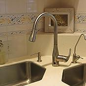 Biobidet Flow Motion Sensor Kitchen Faucet Brushed Nickel