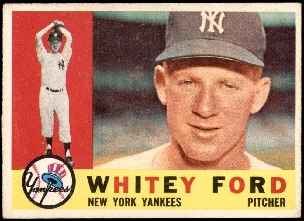 1960 Topps # 35 Whitey Ford New York Yankees Baseball Card Deans Cards 1 POOR Yankees