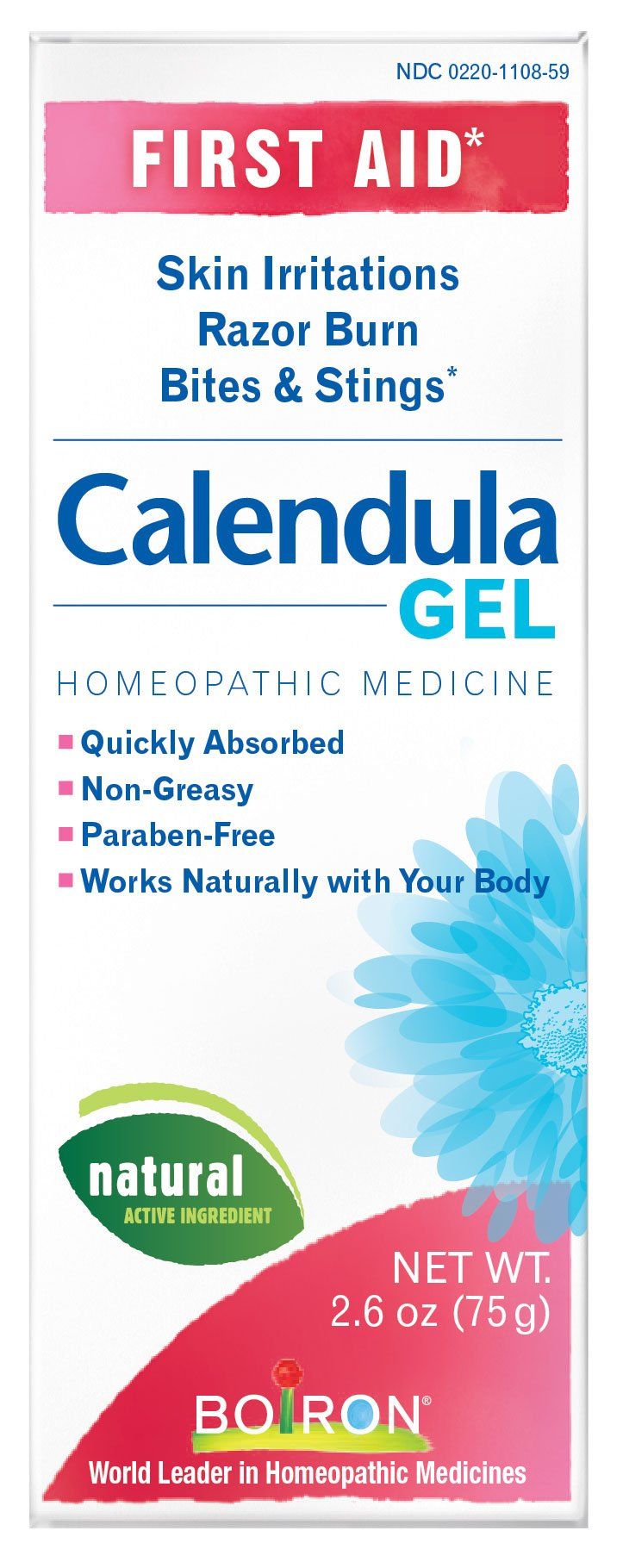 Boiron Calendula Gel, 2.6-Ounce Tubes (Pack of 3), Homeopathic Medicine for Skin Irritation and Burns by Boiron