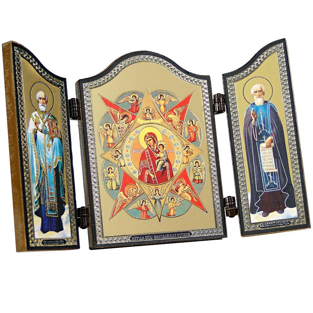 Risurrezione di Ges/ù 1403 Воскресение Иисуса NKlaus Icona cristiana trittico in legno