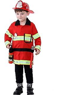 Pretty Princess Ragazzo Pompiere Costume Bambini Rosso Fireman Cosplay  Giacca Casco e Accessori 7-9 2af2c6221c2e