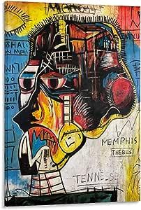 Póster de Michelle Basquiat en lienzo, diseño moderno de