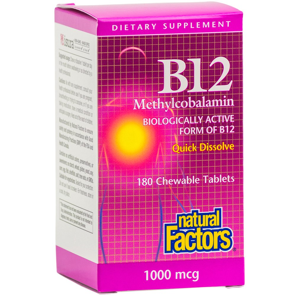Amazon.com: Natural Factors - Vitamin B12 Methylcobalamin 5000mcg ...