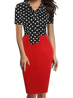 Amazon.com: oxiuly OX034 - Vestido de mujer con estampado de ...