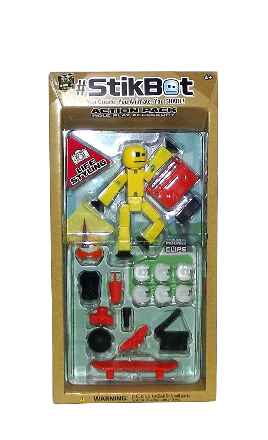 #StikBot Action Pack Figure Roleplay Accessory Set Red, Life Styling