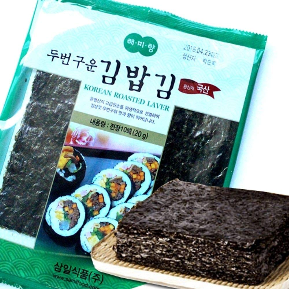 Korean Seaweed Roasted Twice Full Size 10 sheets x 6 packs