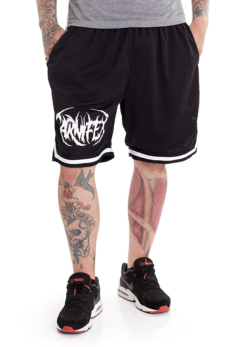 Carnifex Logo Striped - Shorts