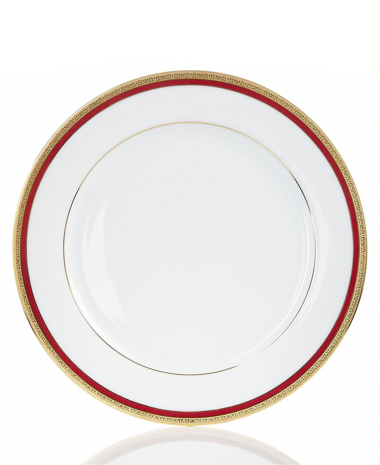 Charter Club Grand Buffet Classic Red Dinner Plates, Set of 4 (11.5-in)
