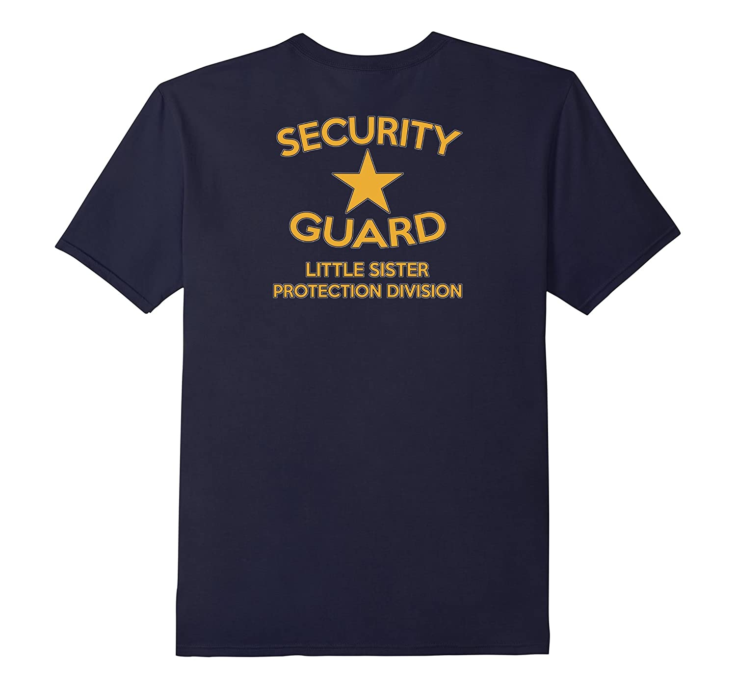 Security Guard Little Sister Protection Sibling Shirt Back-CD