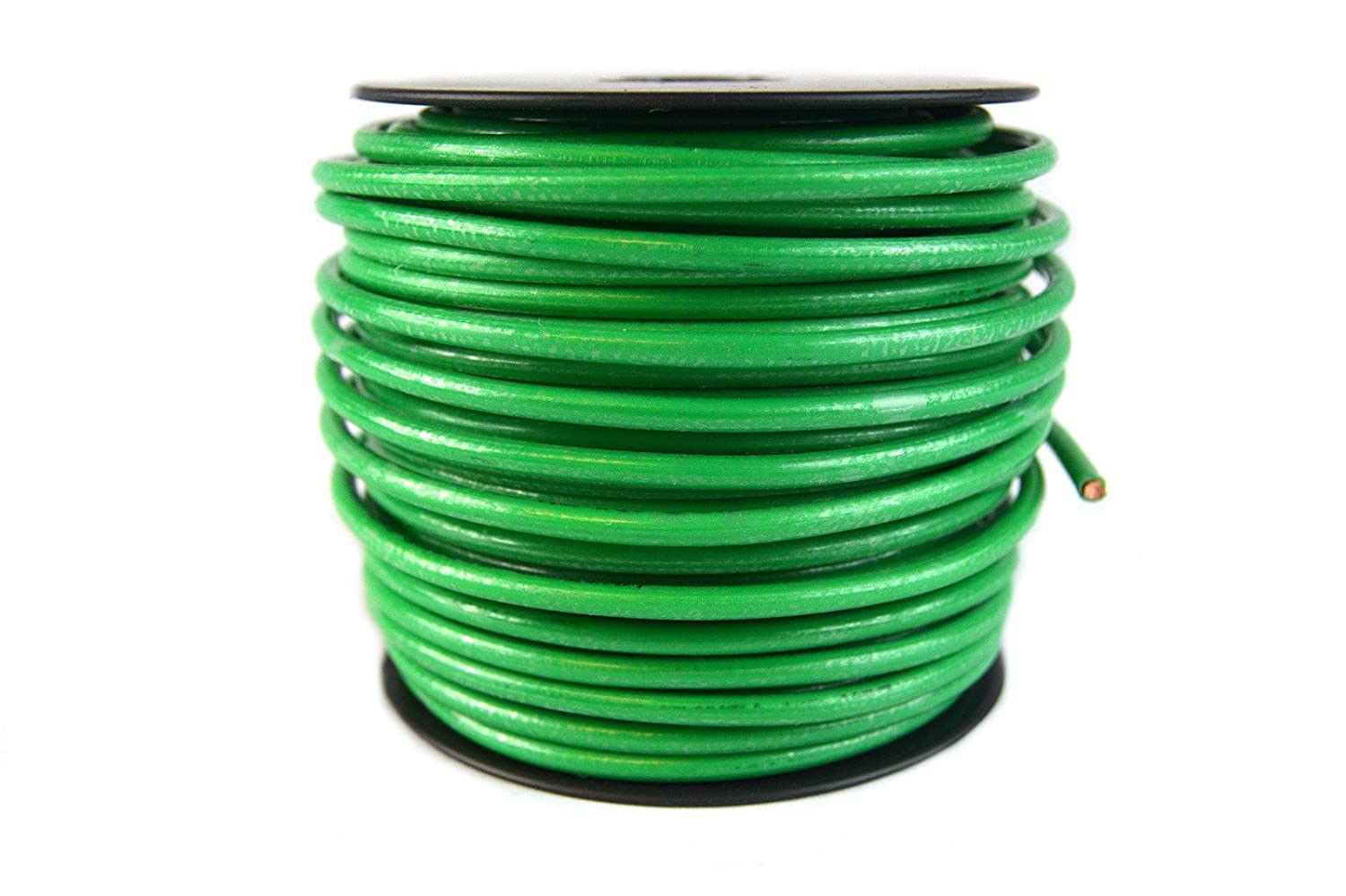 Amazon.com: 10 Gauge AWG Green Ground Wire 100 ft Solid Copper UL ...