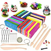 Polymer Clay, 32 Colours Oven Bake Polymer Clay, CiaraQ DIY Modelling Clay Kit with 5pcs Modeling Tools, Tutorials and…