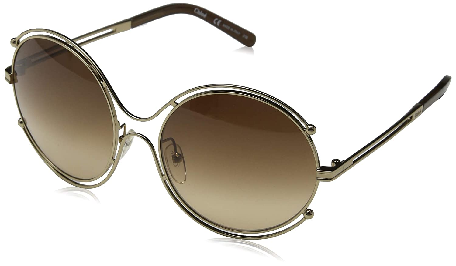 a992c722aff0 Sunglasses CHLOE CE122S 786 ROSE GOLD BROWN at Amazon Men s Clothing store
