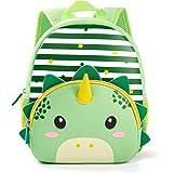 Toddler Backpack Waterproof Preschool Backpack 3D Cute Cartoon Neoprene Animal Schoolbag for Kids for 2-5 Years Boys…