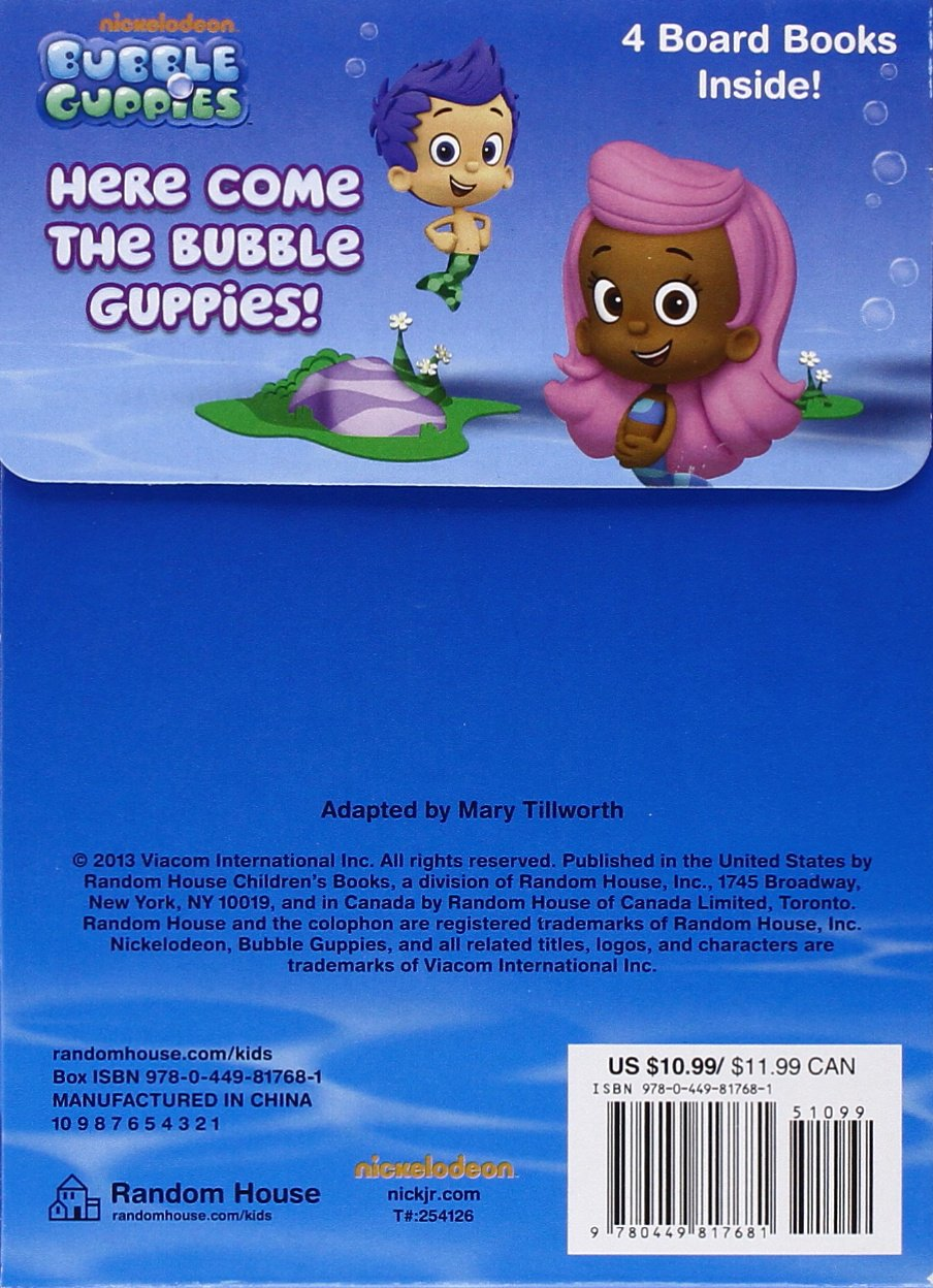 Bubble guppies character rental - Amazon Com Here Come The Bubble 9780449817681 Mary Tillworth Random House Books