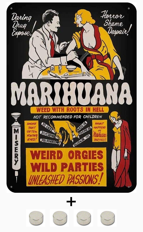 BlechschilderWelt Placa magnética Marihuana Expose. Cartel ...