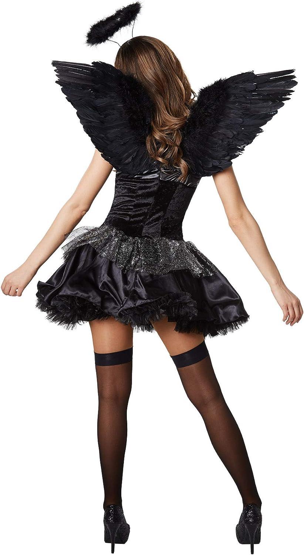 dressforfun 900508 Disfraz de Mujer Ángel Negro, Disfraz Ceñido ...
