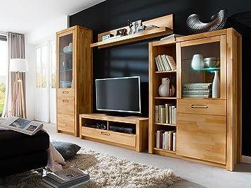 Hochwertig Wohnwand, Wohnzimmerschrank, Anbauwand, Schrankwand, Fernsehwand,  Wohnzimmerschrankwand, Wohnschrank, Kernbuche,