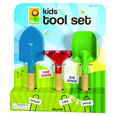 Toysmith Kid's 3-Piece Garden Tool Set: Toys & Games