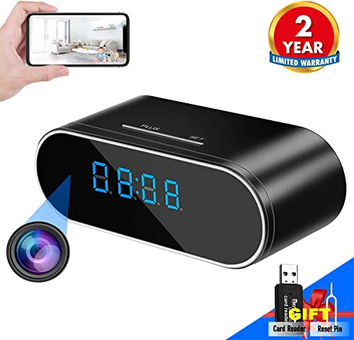 WEMLB WB-726 HD 1080P WiFi Hidden Camera Alarm Clock Night Vision Motion Detection Loop Recording Wireless Security Camera for Home Surveillance – Spy Cameras