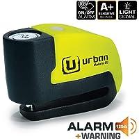 Urban Security UR6 Candado Antirrobo Disco con Alarma+Warning 120dB, 6, Made in EU.