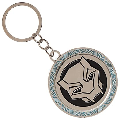 Bioworld Marvel Black Panther Movie Logo Metal Keychain