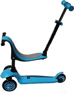 Twist & Roll Trottinette à 3roues style scooter pour enfants de 3–5ans, bleu Kawin