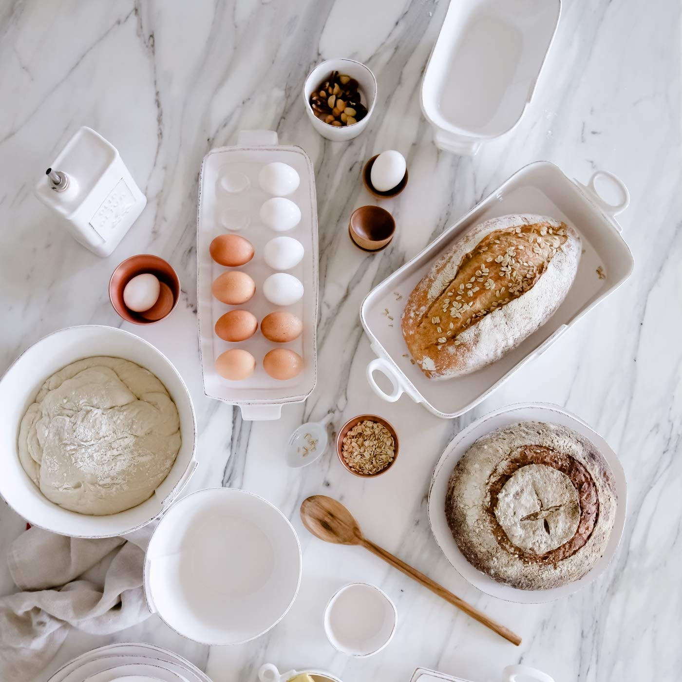 Vietri Lastra White Rectangular Baker by Vietri