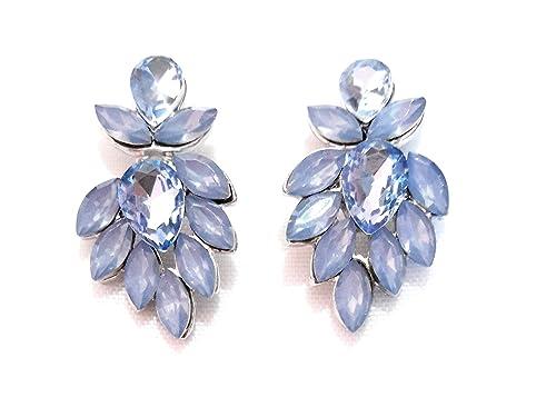 308e5110812b Pendientes de Cristal Fiesta Boda Mujer Bisutería Pendientes Elegantes