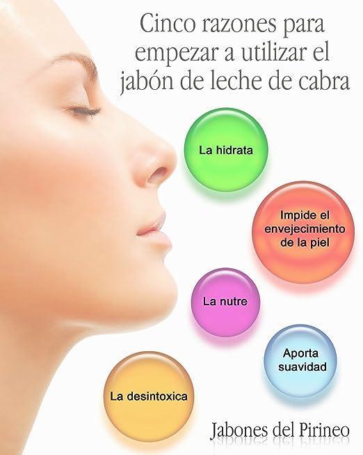 Jabones del Pirineo - Jabón de Leche de Cabra con Cera de Abejas y Avena 100% Natural para Pieles Sensibles: Amazon.es: Belleza