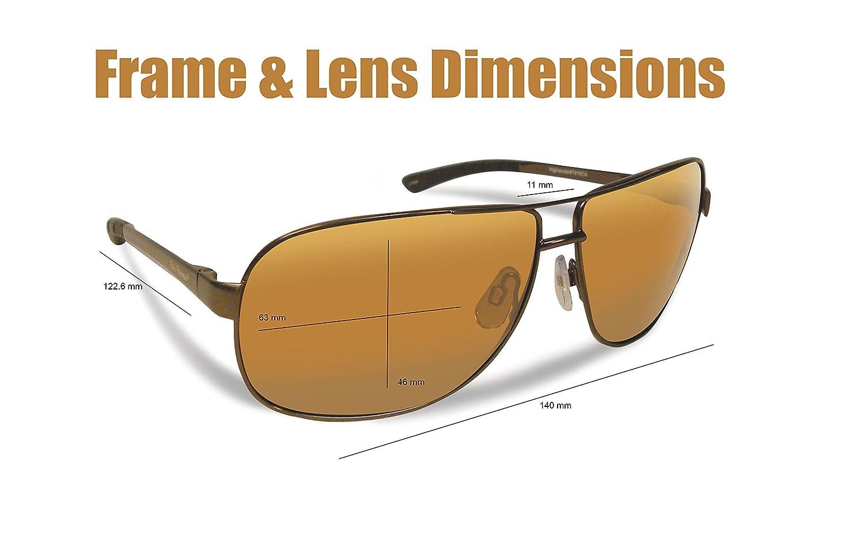 94096a14ef Flying Fisherman Highlander Polarized Sunglasses Dark Copper  Amazon.in   Clothing   Accessories