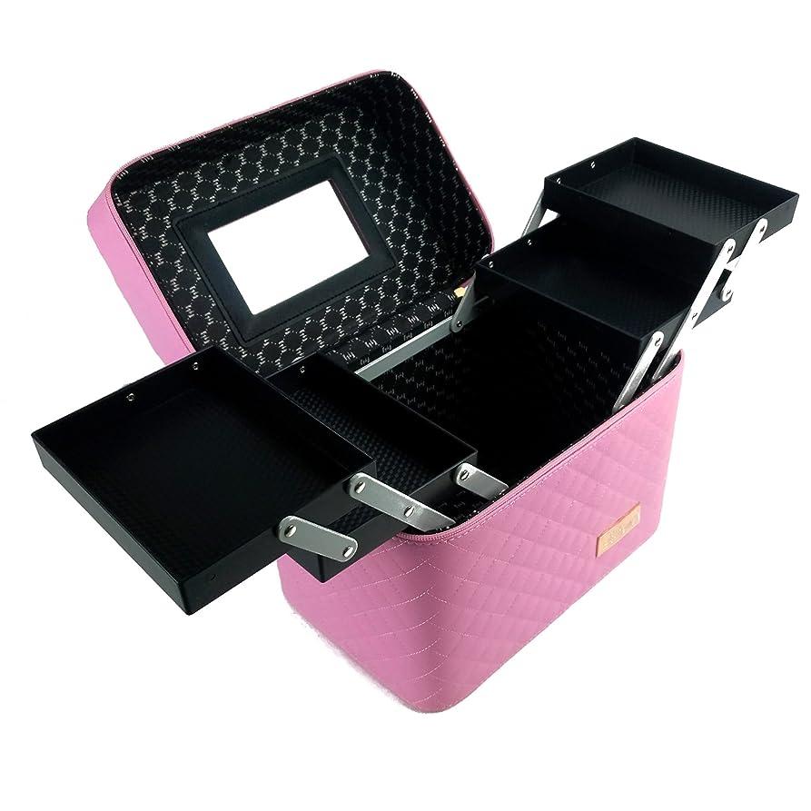 腸注目すべきパレードRoulingメイクボックス メイク 収納ケース 化粧品入れ 防塵カバー 透明ABS 大容量 取っ手付き