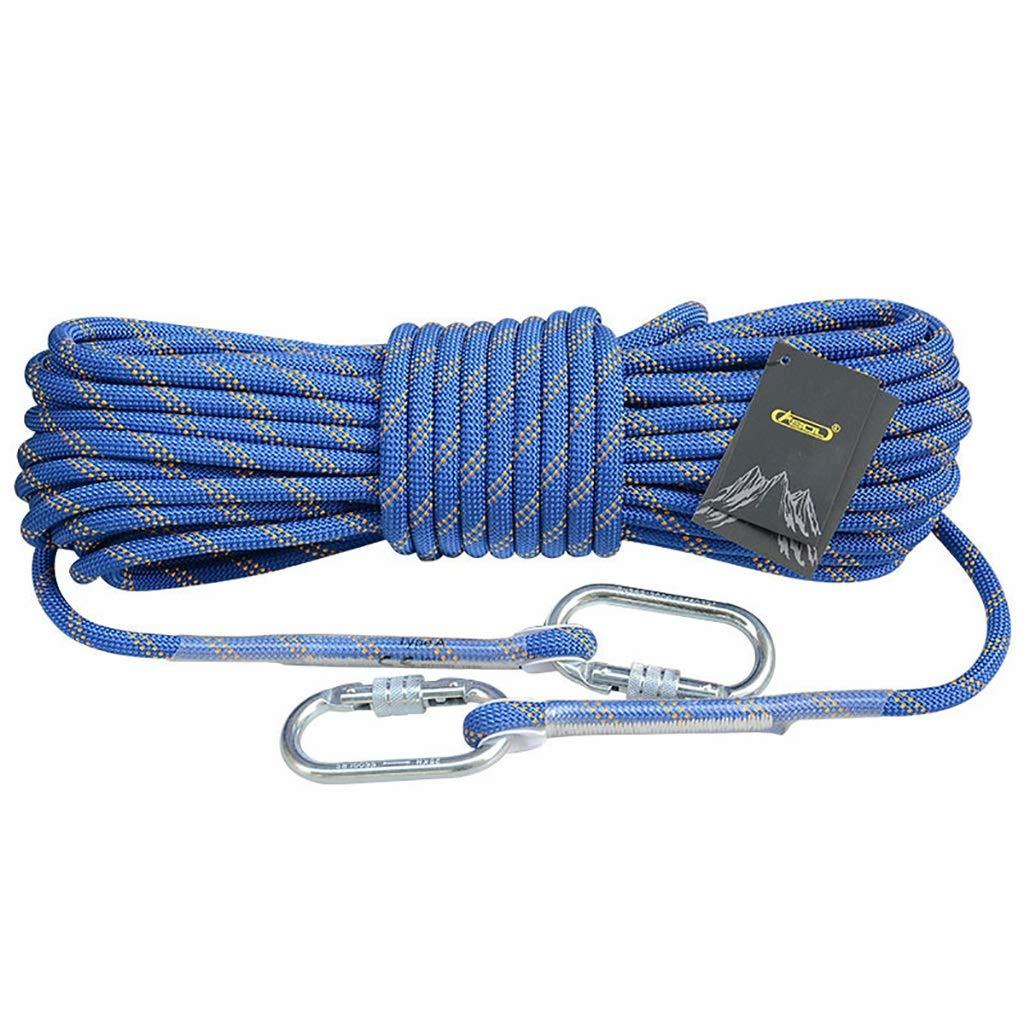 LXYFMS Corde d'escalade Corde Statique Travail aérien Corde de Descente en Rappel diamètre extérieur 10.5 12   14mm Bleu Corde d'alpinisme (Taille   12mm 10m) 12mm 10m