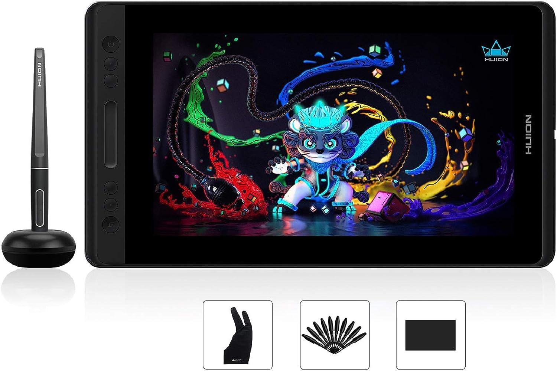 HUION Tableta Gráfica con Pantalla Kamvas Pro 13 Monitor de Dibujo IPS de 13,3 Pulgadas Antideslumbrante Laminado Completo, Lápiz sin Batería con Función de Inclinación, Gama sRGB al 120%, sin Soporte