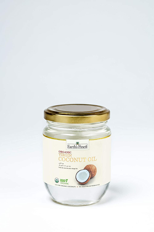 Earths Finest Organic Virgin Coconut Oil 200ml Cold