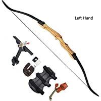 MEJOSER Takedown Recurve Bow Alloy Riser Weight 30 35 40 45 50 lbs Right Handed For Archery Hunting,3D Target Practice Black 30lbs, Recurve Bow Limbs with String