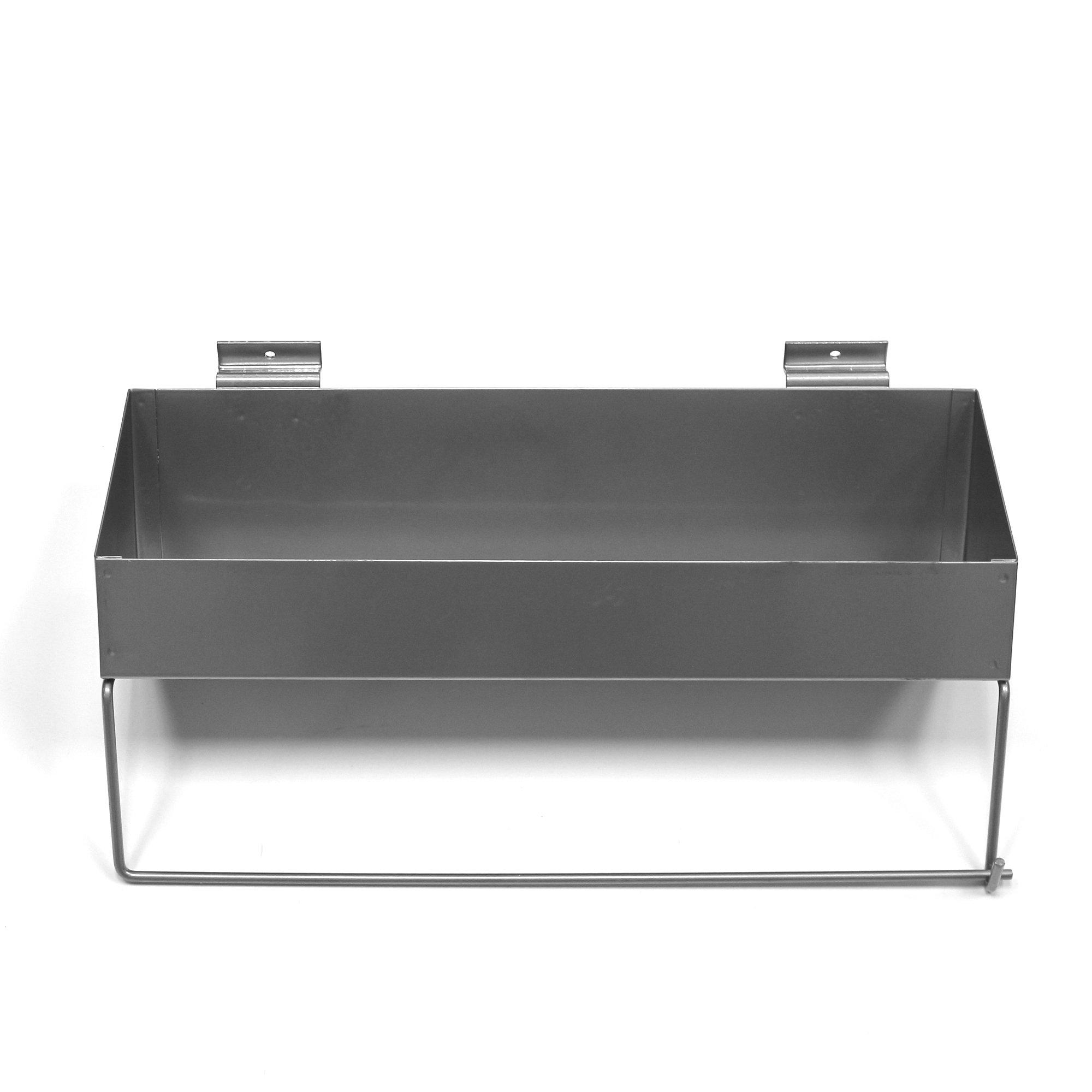Proslat 10029 Paper Towel Holder Shelf Designed for Proslat PVC Slatwall by Proslat