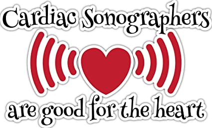 4 All Times Cardiac Sonographers are Good for The Heart Automotive Car Decal for Cars 8.0 W x 4.9 H Trucks Laptops
