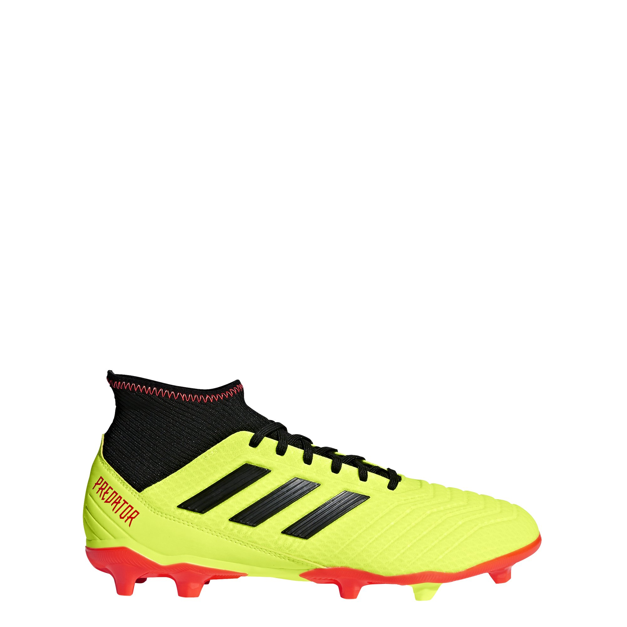 adidas Men's Predator 18.3 Firm Ground Soccer Shoe, Solar Yellow/Black/Solar Red, 6.5 M US