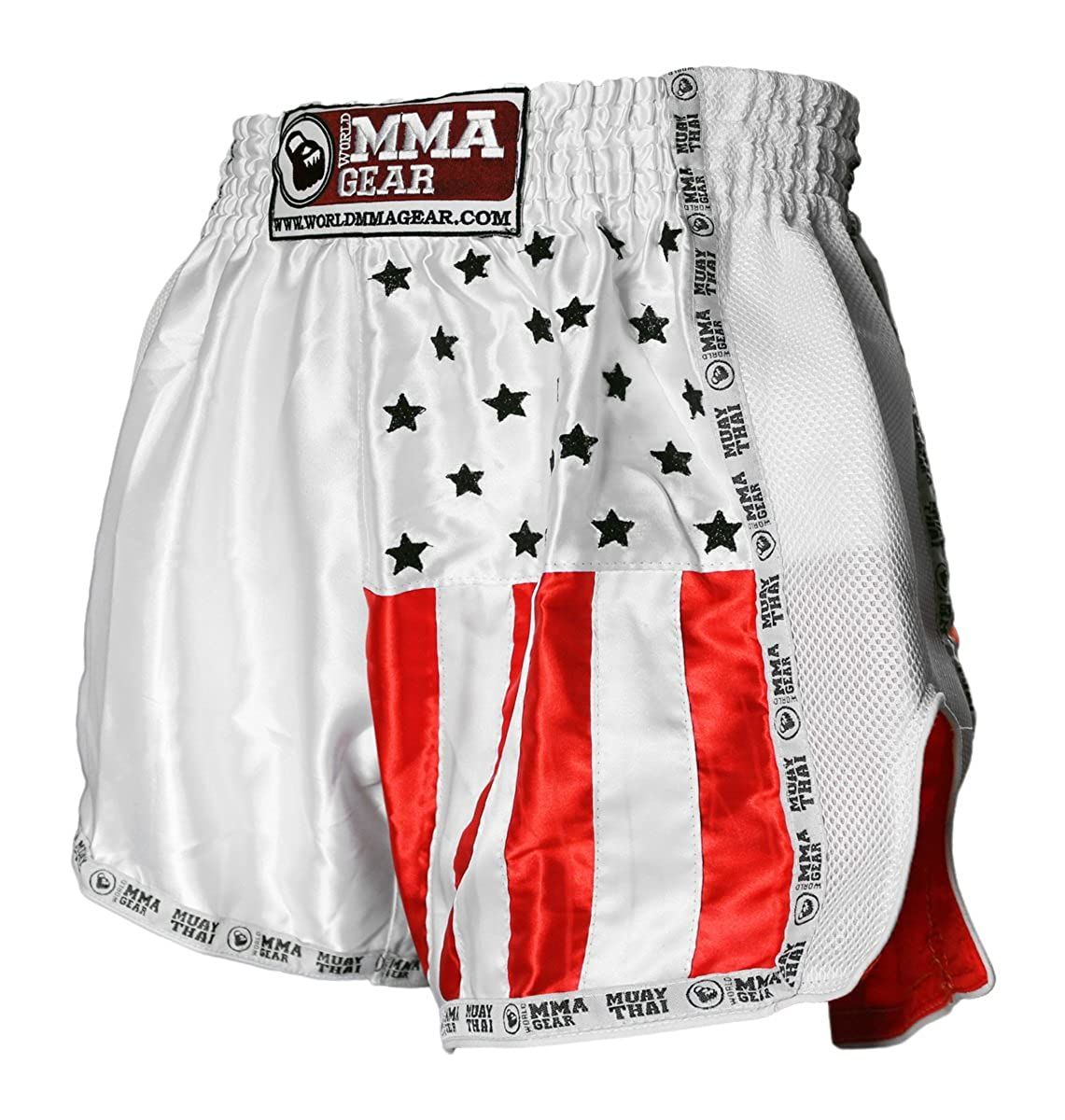 World MMA gear SHORTS メンズ B07DMKKC5K ホワイト 6XL (42'-44')