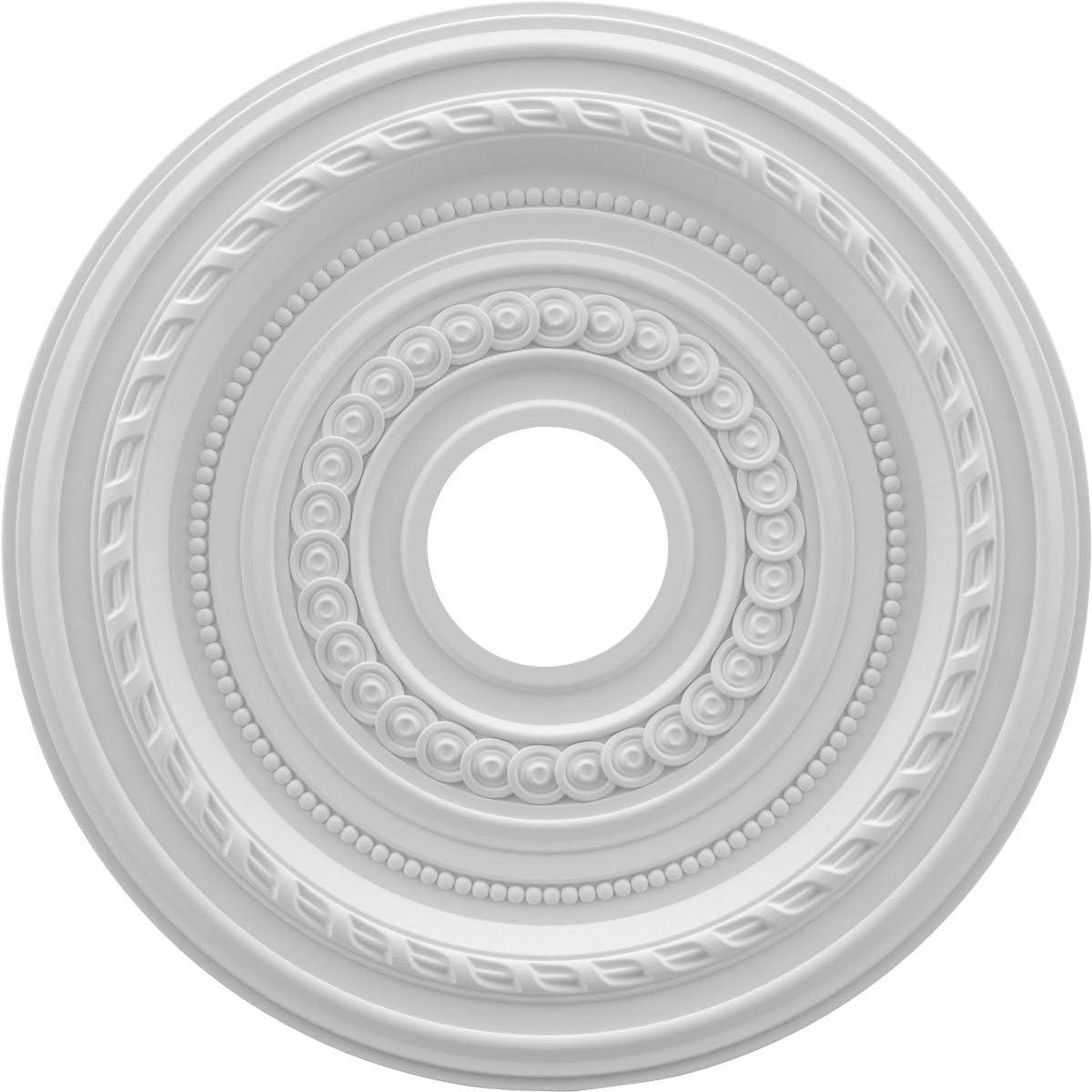 Ekena Millwork CMP16BA Baltimore Thermoformed PVC Ceiling Medallion 16OD x 3 1//2ID x 1P White