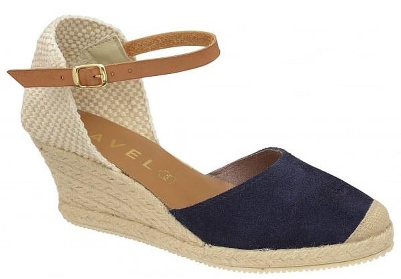 fb1dc80c800 Ravel Ladies Womens Espadrille Wedge Ankle Strap Faux Suede Sandals Shoes  Size - Blue - UK 7  Amazon.co.uk  Shoes   Bags