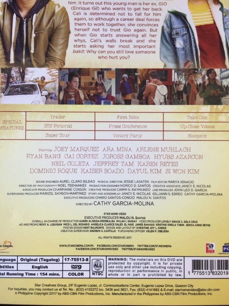 Amazon.com: My Ex And Whys Filipino DVD: Enrique Gil, Liza Soberano, Cathy Garcia Molina: Movies & TV