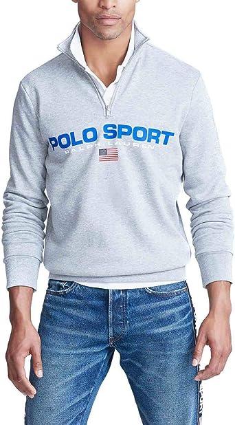 Felpa Ralph Lauren Polo Sport Gris Hombre L Gris: Amazon.es ...