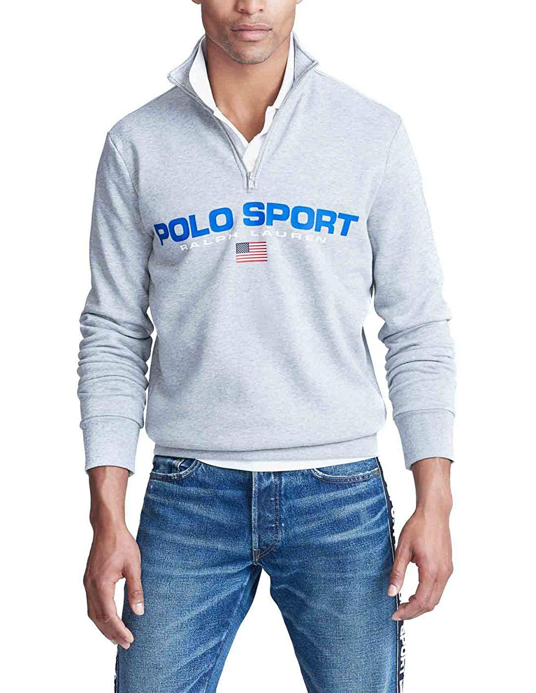 Felpa Ralph Lauren Polo Sport Gris Hombre XL Gris: Amazon.es: Ropa ...