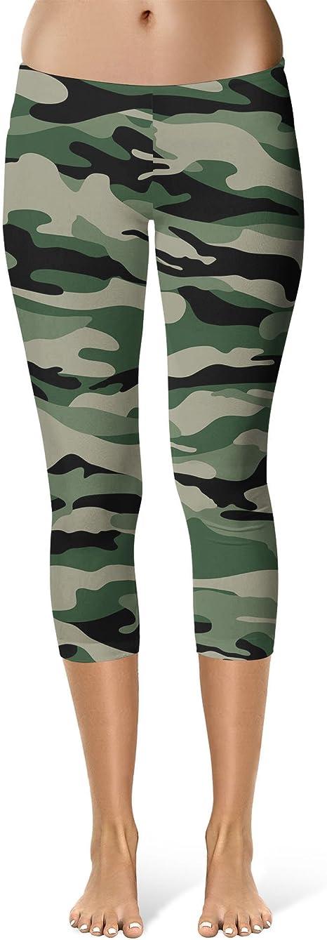 Military Camouflage Sport Leggings Full Length