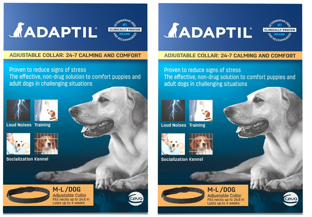 Adaptil Large Dog Collar, 27.6'' (2-Pack) by Adaptil